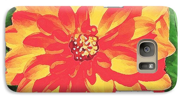 Galaxy Case featuring the painting Orange Dahlia by Sophia Schmierer