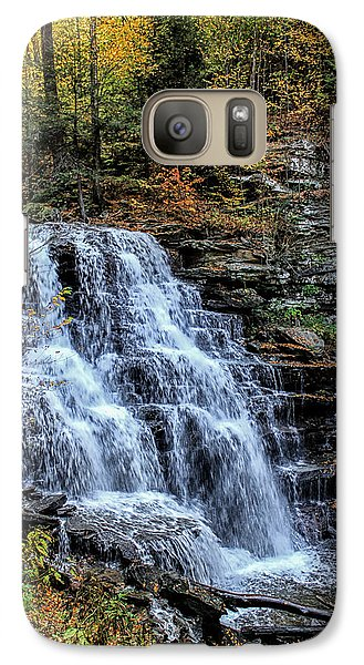 Galaxy Case featuring the photograph Orange Fall by David Stine