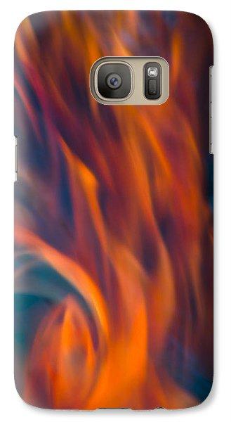 Orange Fire Galaxy S7 Case by Yulia Kazansky