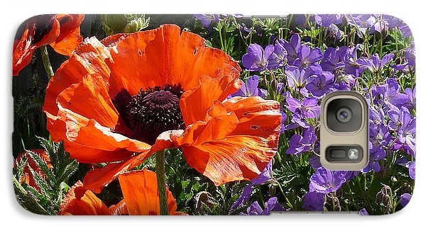 Galaxy Case featuring the photograph Orange Flowers by Alan Socolik