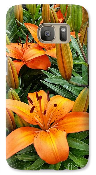 Galaxy Case featuring the photograph Orange Flowers by Rose Wang