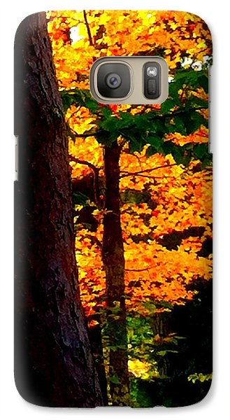 Galaxy Case featuring the photograph Orange Foliage by Denyse Duhaime