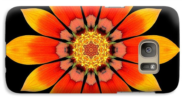 Galaxy Case featuring the photograph Orange Gazania I Flower Mandala by David J Bookbinder