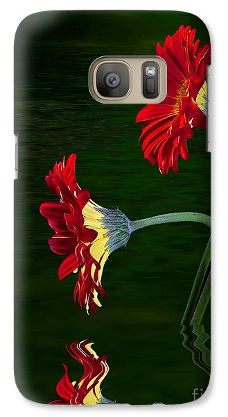 Galaxy Case featuring the photograph Orange Gerber by Shirley Mangini