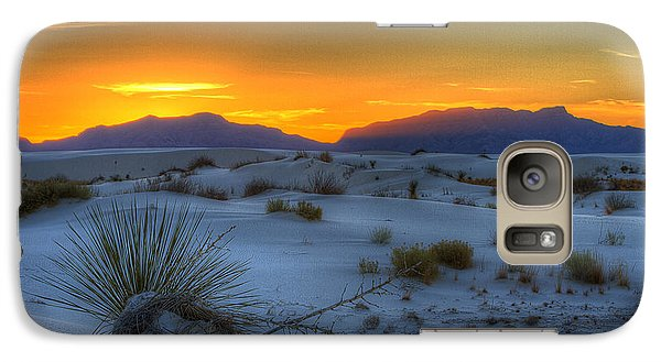 Galaxy Case featuring the photograph Orange Glow by Kristal Kraft