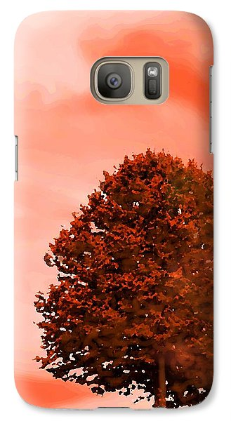 Galaxy Case featuring the digital art Orange Glow Of Fall by Mary Armstrong