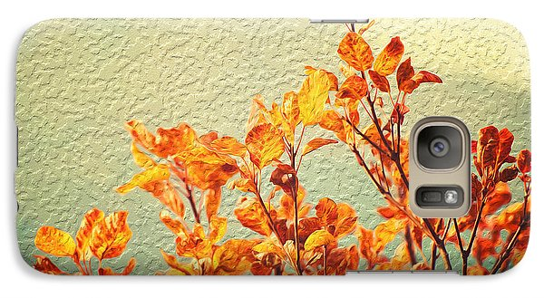Galaxy Case featuring the photograph Orange Leaves by Yew Kwang