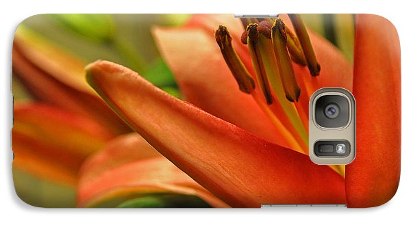 Galaxy Case featuring the photograph Orange Lilies by Lula Adams