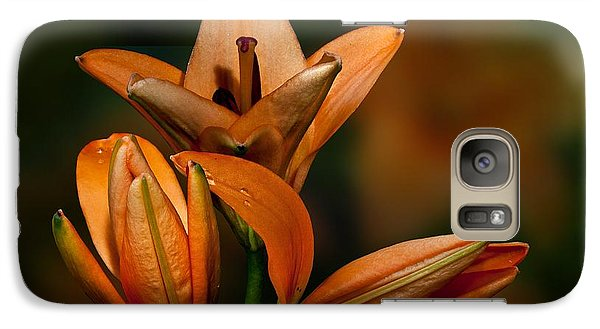 Galaxy Case featuring the photograph Orange Lilies by Shirley Mangini