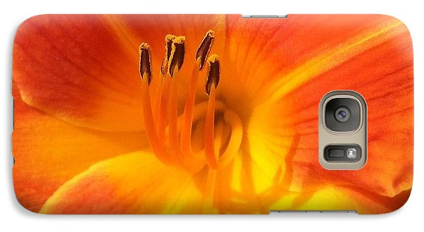 Galaxy Case featuring the photograph Orange Lily by Saribelle Rodriguez