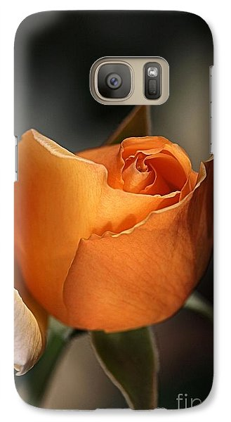 Galaxy Case featuring the photograph Orange Mood by Joy Watson