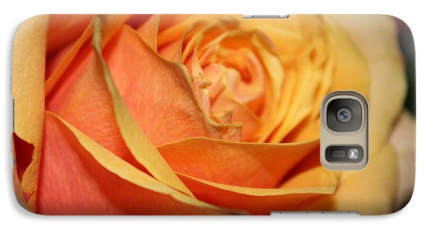 Galaxy Case featuring the photograph Orange Passion by Judy Palkimas