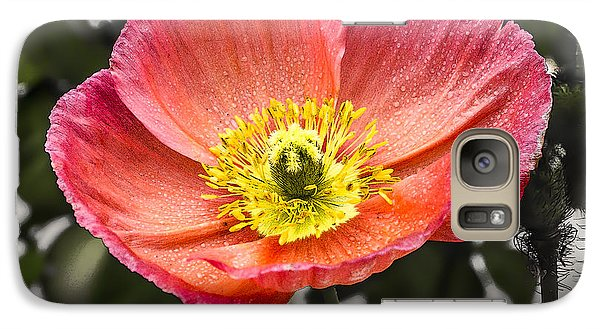 Galaxy Case featuring the digital art Orange Poppy by Photographic Art by Russel Ray Photos