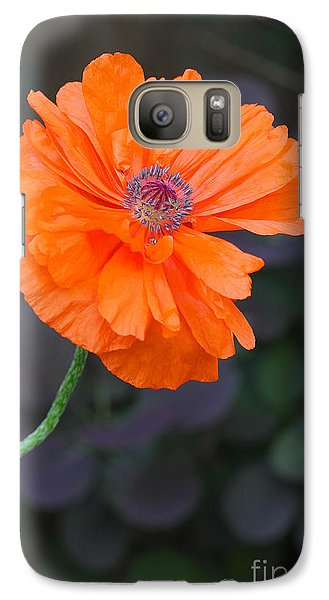 Galaxy Case featuring the photograph Orange Poppy by Steve Augustin