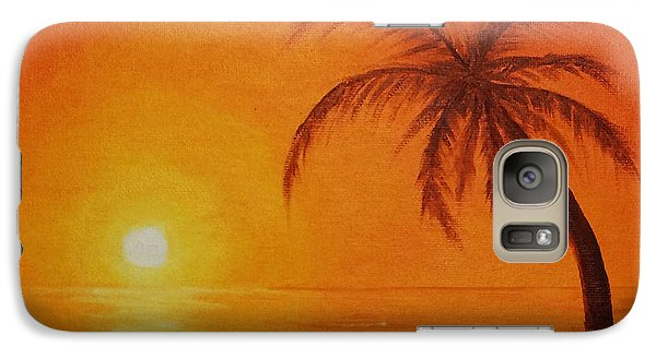 Galaxy Case featuring the painting Orange Reflections by Arlene Sundby