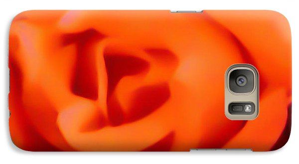 Galaxy Case featuring the photograph Orange Rose by Gayle Price Thomas