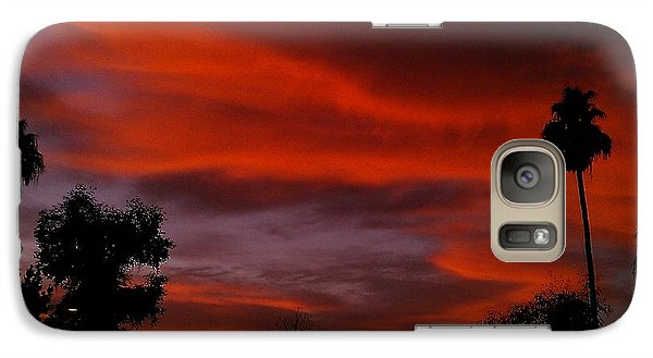 Galaxy Case featuring the photograph Orange Sky by Chris Tarpening