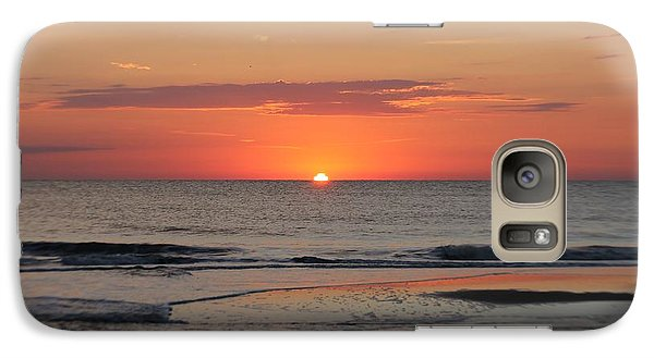 Galaxy Case featuring the photograph Orange Sky Dawn by Robert Banach