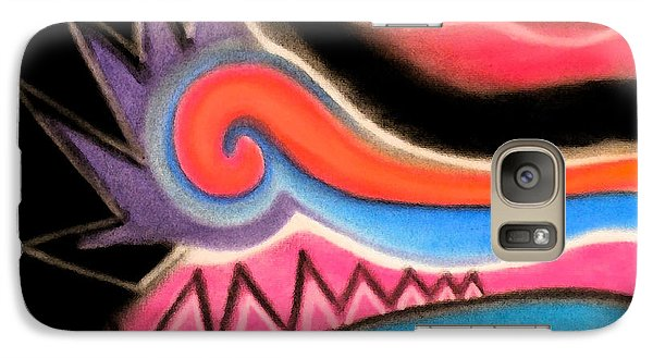 Galaxy Case featuring the pastel Orange Spiral by Christine Perry