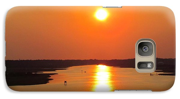 Galaxy Case featuring the photograph Orange Sunset by Cynthia Guinn