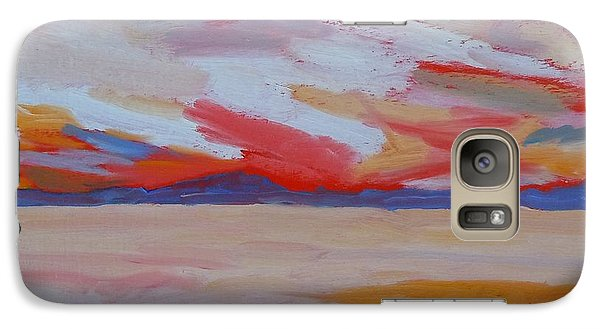 Galaxy Case featuring the painting Orange Sunset by Francine Frank
