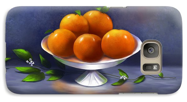 Galaxy Case featuring the painting Oranges A La Carte by Sena Wilson