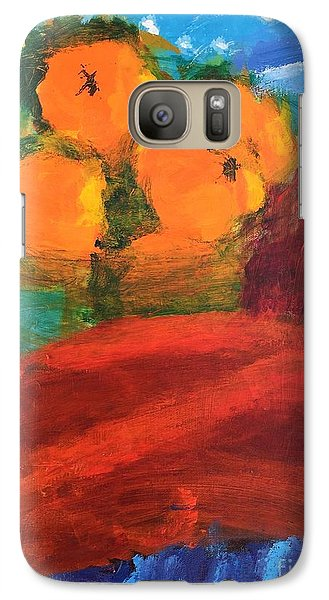 Galaxy Case featuring the painting Oranges by Donald J Ryker III