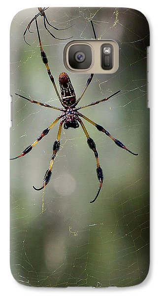 Galaxy Case featuring the photograph Orb Weaver 006 by Chris Mercer