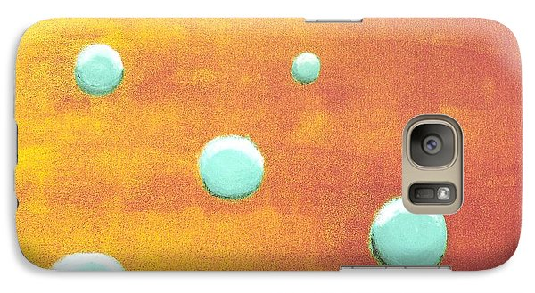 Galaxy S7 Case featuring the painting Orbs In Space 2 -- Inverted Colors by Rod Ismay