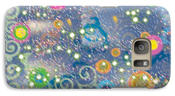 Galaxy Case featuring the photograph Orbs by Kim Prowse