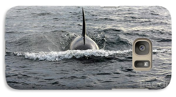 Galaxy Case featuring the photograph Orca Approach by Gayle Swigart