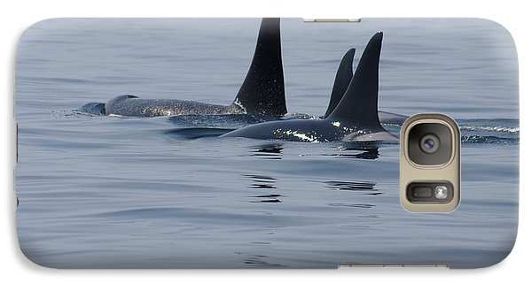 Galaxy Case featuring the photograph Orca Family by Marilyn Wilson