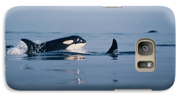 Galaxy Case featuring the photograph Orcas Off The San Juan Islands Washington  1986 by California Views Mr Pat Hathaway Archives