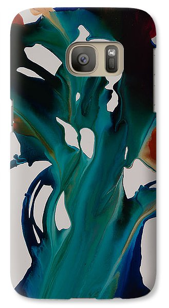 Galaxy Case featuring the painting Orchid A by Sherry Davis