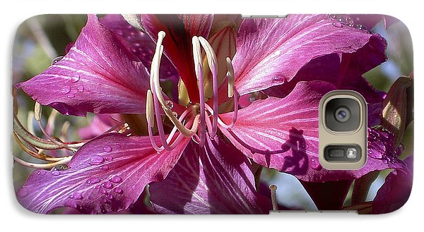 Galaxy Case featuring the photograph Orchid Blur by Penny Lisowski