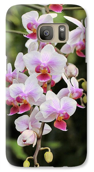 Galaxy Case featuring the photograph Orchid Cascade by Harold Rau
