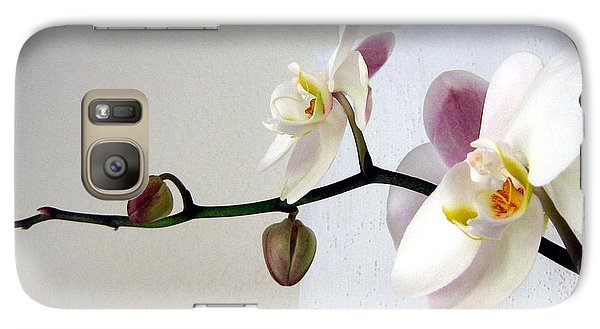 Galaxy Case featuring the photograph Orchid Coming Out Of Painting by Barbara Yearty
