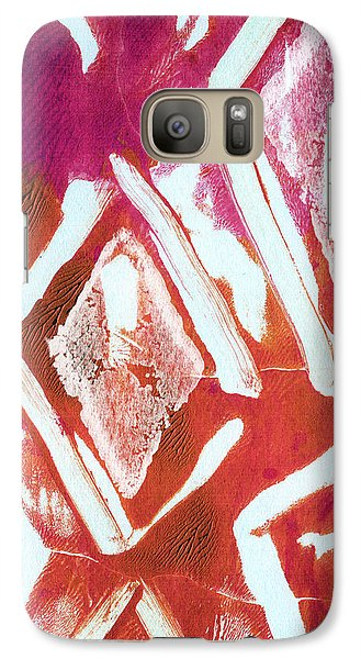 Orchid Galaxy S7 Case - Orchid Diamonds- Abstract Painting by Linda Woods