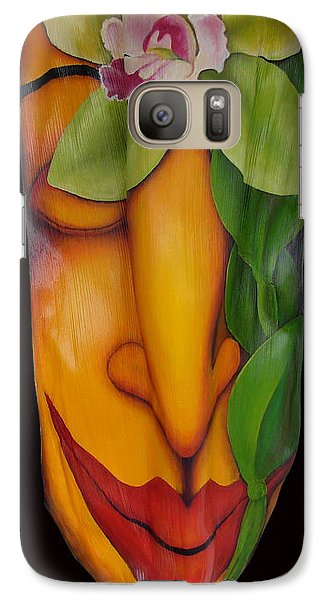 Galaxy Case featuring the painting Orchid Dream by Anna Skaradzinska