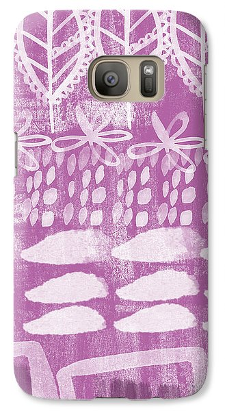 Orchid Galaxy S7 Case - Orchid Fields by Linda Woods