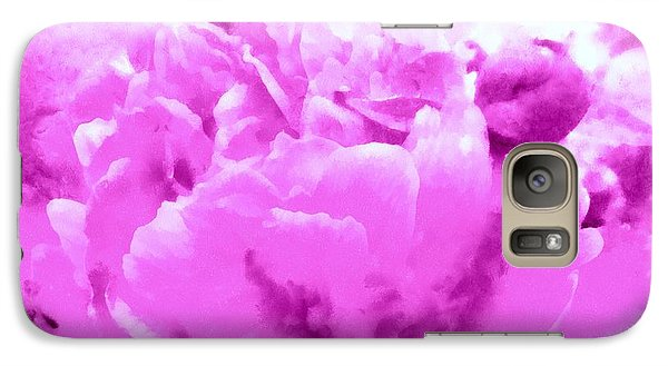 Galaxy Case featuring the photograph Orchid Frost Peony by Janine Riley