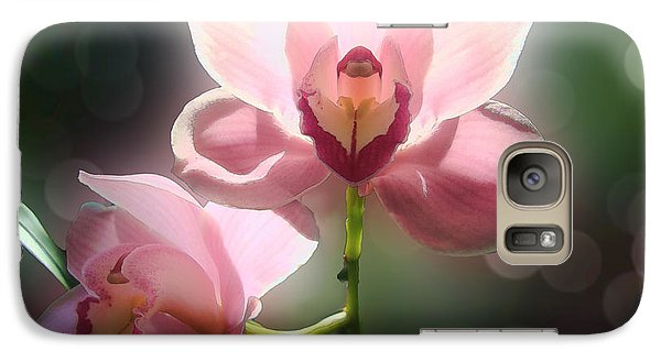 Galaxy Case featuring the photograph Orchid Glow by Kathleen Holley