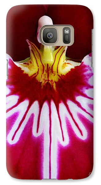 Galaxy Case featuring the photograph Orchid Harlequinn-pansy Orchid by Jennie Breeze