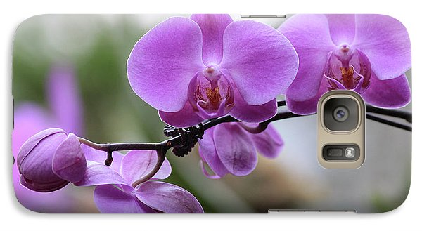 Galaxy Case featuring the photograph Orchid In Bloom by Harold Rau