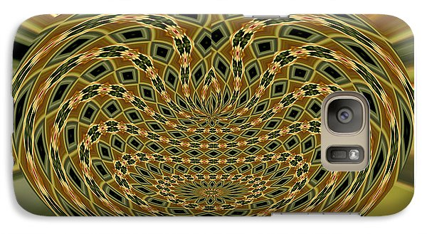 Galaxy Case featuring the photograph Orchid Polar Coordinate by Rose Santuci-Sofranko