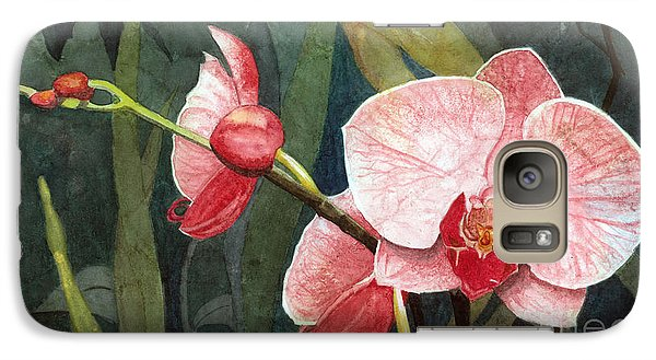 Galaxy Case featuring the painting Orchid Trio 2 by Barbara Jewell