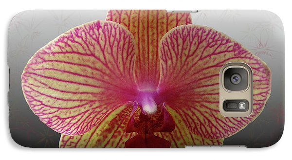 Galaxy Case featuring the photograph Orchid  With Stars by Donna Brown