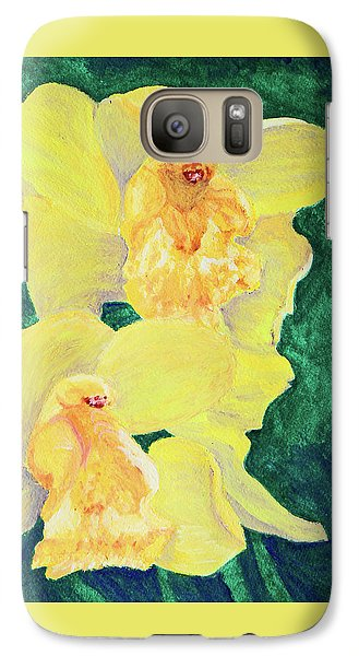 Galaxy Case featuring the painting Orchid Yellow by Margaret Saheed