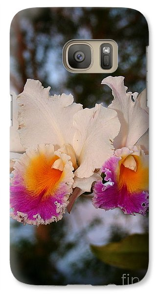 Galaxy Case featuring the photograph Orchid Elsie Sloan by The Art of Alice Terrill