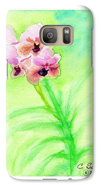 Galaxy Case featuring the painting Orchids by C Sitton